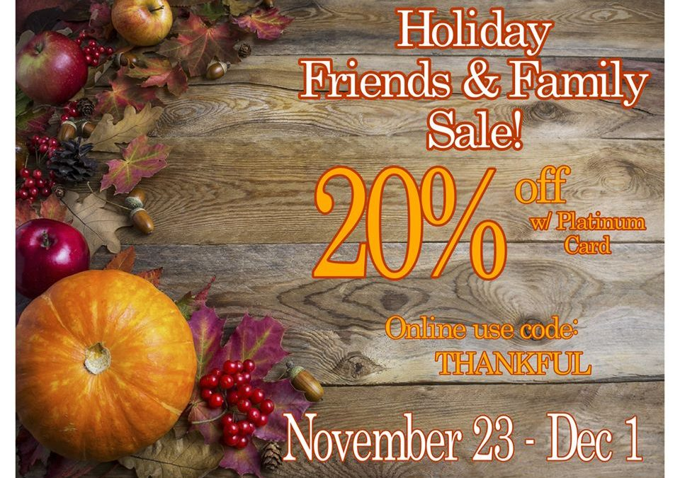 Snooty Fox Friends and Family Holiday Sale